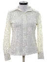 Womens Solid Disco Cocktail Shirt