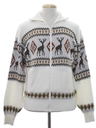 Mens Vintage Reindeer Ski Sweater