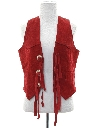 Womens Totally 80s Western Style Suede Leather Vest