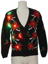 Womens Multicolor Lightup Ugly Christmas Cardigan Sweater