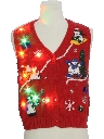 Womens Lightup Ugly Christmas Sweater Vest