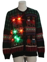 Unisex Multicolor Lightup Country Kitsch Bear-riffic Ugly Christmas Sweater
