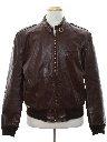 Mens Totally 80s Leather Members Only Style Cafe Racer Jacket