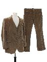 Mens Three Piece Corduroy Disco Suit