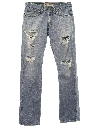 Mens Grunge Levis 514 Distressed Jeans Pants
