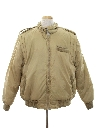 Mens Lined Members Only Style Ski Jacket