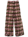 Womens Bellbotttom Style Wide Leg Plaid Flared Pants