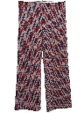 Womens Plaid Knit Flared Pants