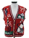 Womens Cheesy Kitschy Ugly Golf Sweater Vest