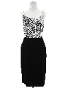 Womens Totally 80s Designer Wiggle Prom or Cocktail dress