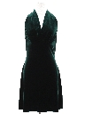 Womens Wicked 90s Mini Prom Or Cocktail Velvet Halter Dress
