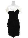 Womens Totally 80s Mini Wiggle Prom or Cocktail Velvet Dress