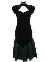 Womens Totally 80s Maxi Wiggle Prom Or Cocktail Velvet Dress