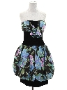 Womens Designer Totally 80s Mini Prom Or Cocktail Bubble Dress