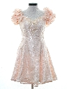 Womens Designer Totally 80s Pretty in Pink Mini Prom Or Cocktail Dress
