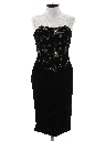 Womens Crushed Velvet Totally 80s Prom Or Cocktail Dress
