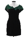 Womens Velvet Totally 80s Mini Prom Or Cocktail Dress
