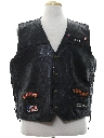Mens Leather Motorcycle Vest