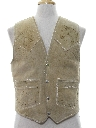 Mens Western Style Suede Leather Vest