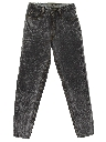 Womens Totally 80s Tapered Leg Acid Wash Denim Designer Jeans Pants
