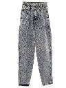 Womens Totally 80s Stone Wash Tapered Leg Denim Jeans Pants