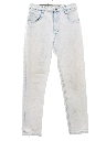 Womens Totally 80s Acid Wash Tapered Leg Denim Jeans Pants