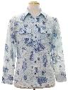 Mens Print Western Style Shirt