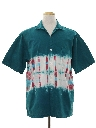 Mens Totally 80s Hippie Style Sport Shirt