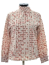 Womens Asian Inspired Mod Print Shirt