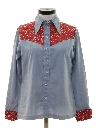 Womens Chambray Hippie Western Shirt