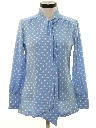 Womens Polka Dot Secretary Shirt