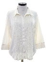 Womens Lace Ruffled Secretary Shirt