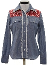 Womens Chambray Western Shirt