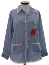 Womens Mod Chambray Hippie Shirt