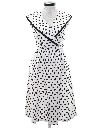 Womens Totally 80s Polka Dot Dress
