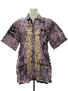 Mens Ethnic Style Embroidered Hippie Shirt