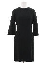 Womens Mod Designer Little Black Cocktail Dress