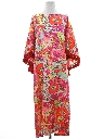 Womens Mod Hippie Style Cocktail Caftan Dress