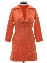 Womens Mod Mini Wool Dress