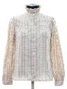 Womens Flannel Secretary Style Shirt