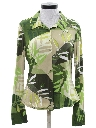 Womens Designer Print Disco Shirt
