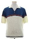 Mens Totally 80s Knit Polo Shirt