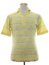 Mens Totally 80s Preppy Knit Polo Shirt