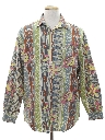 Mens Totally 80s Designer Graphic Print Shirt