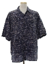 Mens Wicked 90s Designer Graphic Print Sport Shirt