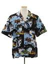 Mens Hawaiian Style Graphic Print Sport Shirt