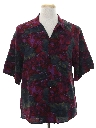 Mens Totally 80s Rayon Graphic Print Sport Shirt