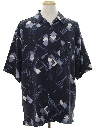 Mens Totally 80s Style Silk Graphic Print Sport Shirt