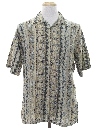 Mens Totally 80s Graphic Print Rayon Sport Shirt