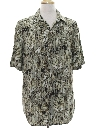 Mens Wicked 90s Rayon Graphic Print Sport Shirt